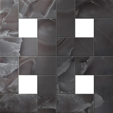 Black Agate Mosaic Lap / Блэк Агате Мозаика лап.45x45
