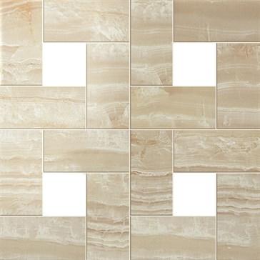 Ivory Chiffon Mosaic Lap / Айвори Шиффон Мозаика лап.45x45