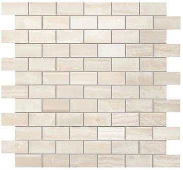 Pure White Brick Mosaic / Пьюр Вайт Брик Мозаика 30,5x30,5