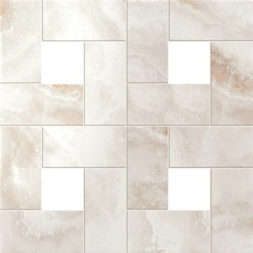 Pure White Mosaic Lap / Пьюр Вайт Мозаика лап.45x45