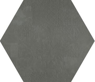 Dechirer Esagona Decor Piombo 120x120