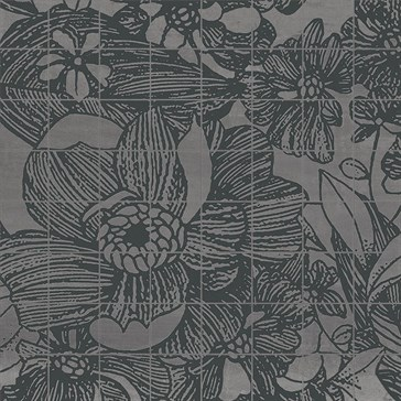 Ironstone Argento Mosaico Flora 37,5x37,5