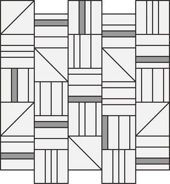 Resina Bianco Mosaico Forme 40x43