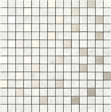 Bistrot Riv. Bianco Pietrasanta Mosaico 40x40