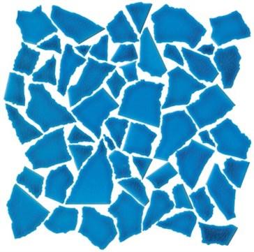 Mos. Spaccatella Azzurro Mare 30x30
