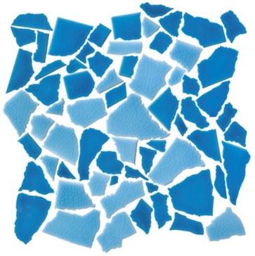 Mos. Spaccatella Mix Azzurro-Turchese 30x30