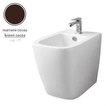 Artceram A16 биде напольное 36x52, 1 отв., Marrone Cocoa