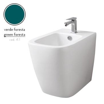 Artceram A16 биде напольное 36x52, 1 отв., Verde Foresta