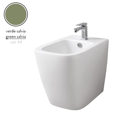 Artceram A16 биде напольное 36x52, 1 отв., Verde Salvia