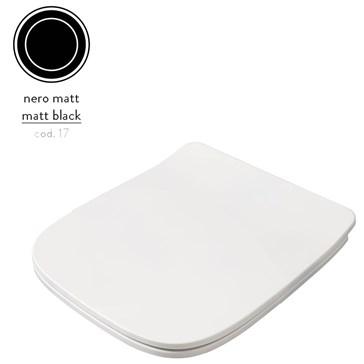 Artceram A16 Сиденье с крышкой Mini для унитаза, мех.Soft-Close, Cromo\Nero Matt