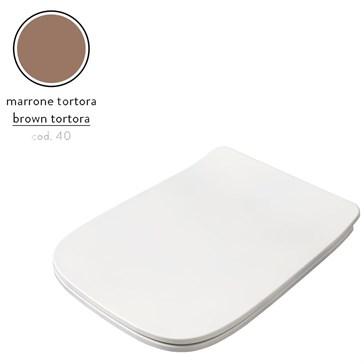 Artceram A16 крышка с сиденьем Slim для унитаза, мех.Soft-Close, Cromo\Marrone Tortora