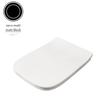 Artceram A16 крышка с сиденьем Slim для унитаза, мех.Soft-Close, Cromo\Nero Matt