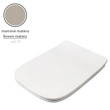 Artceram A16 крышка с сиденьем Slim для унитаза, мех.Soft-Close, Cromo\Marrone Matera