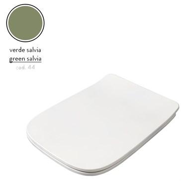 Artceram A16 крышка с сиденьем Slim для унитаза, мех.Soft-Close, Cromo\Verde Salvia
