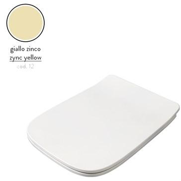 Artceram A16 крышка с сиденьем Slim для унитаза, мех.Soft-Close, Cromo\Giallo Zinco