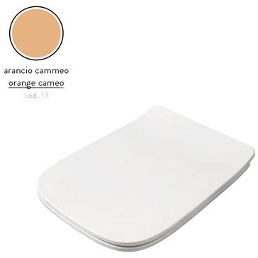 Artceram A16 крышка с сиденьем Slim для унитаза, мех.Soft-Close, Cromo\Arancio Cammeo