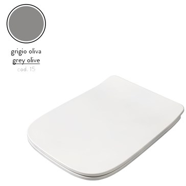 Artceram A16 крышка с сиденьем Slim для унитаза, мех.Soft-Close, Cromo\Grigio Oliva