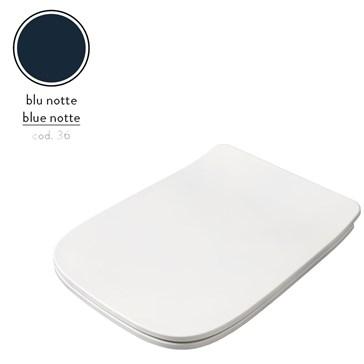 Artceram A16 крышка с сиденьем Slim для унитаза, мех.Soft-Close, Cromo\Blu Notte