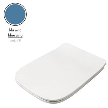 Artceram A16 крышка с сиденьем Slim для унитаза, мех.Soft-Close, Cromo\Blu Avio