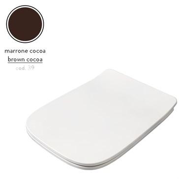Artceram A16 крышка с сиденьем Slim для унитаза, мех.Soft-Close, Cromo\Marrone Cocoa