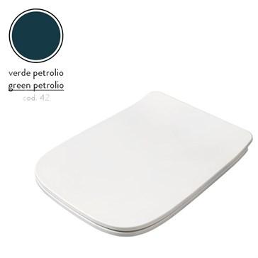 Artceram A16 крышка с сиденьем Slim для унитаза, мех.Soft-Close, Cromo\Verde Petrolio