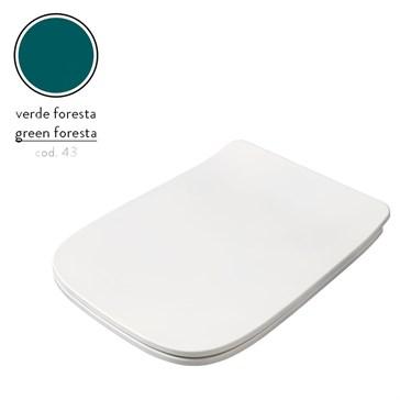 Artceram A16 крышка с сиденьем Slim для унитаза, мех.Soft-Close, Cromo\Verde Foresta