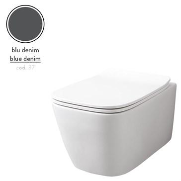 Artceram A16 унитаз подвесной безободковый 36x52, Blu Denim