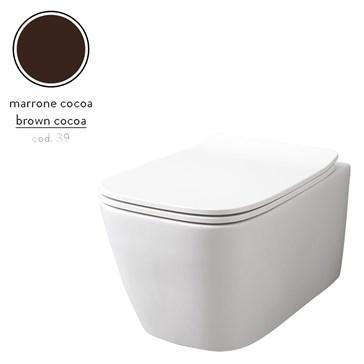 Artceram A16 унитаз подвесной безободковый 36x52, Marrone Cocoa