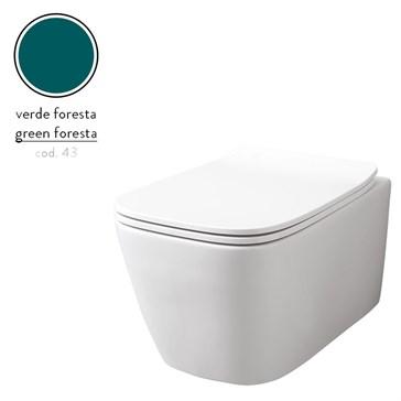 Artceram A16 унитаз подвесной безободковый 36x52, Verde Foresta