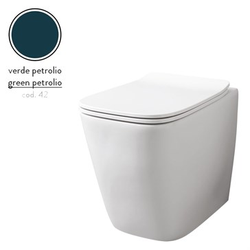 Artceram A16 унитаз напольный безободковый 36x52, Verde Petrolio