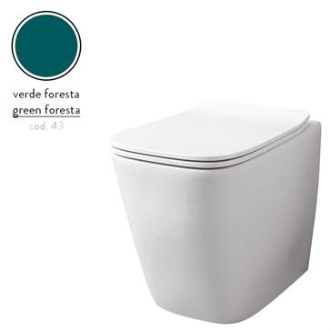 Artceram A16 унитаз напольный безободковый 36x52, Verde Foresta
