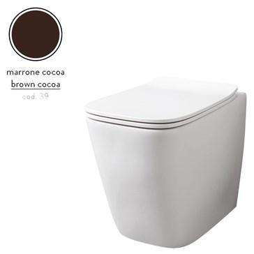 Artceram A16 унитаз напольный безободковый 36x52, Marrone Cocoa