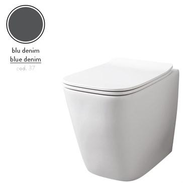 Artceram A16 унитаз напольный безободковый 36x52, Blu Denim